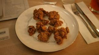 Fried chicken livers; a personal favorite.